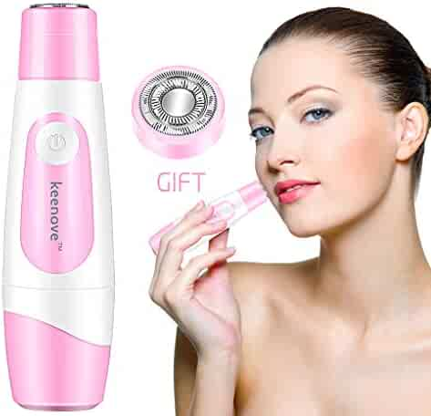 Keenove Painless Facial Hair Removal for Women with 1 Gift Replacement Head Gentle Electric Hair Remover for Face Arms and Legs Electric Lady Shaver