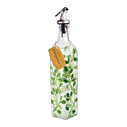 - oldzon 39570 Hand Painted Vines Glass Oil & Vinegar Cruet Bottle, 16 Ounce with Ebook