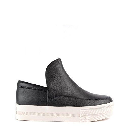 Ash Zapatos Jack Zapatillas de Cuero Negro Mujer Negro