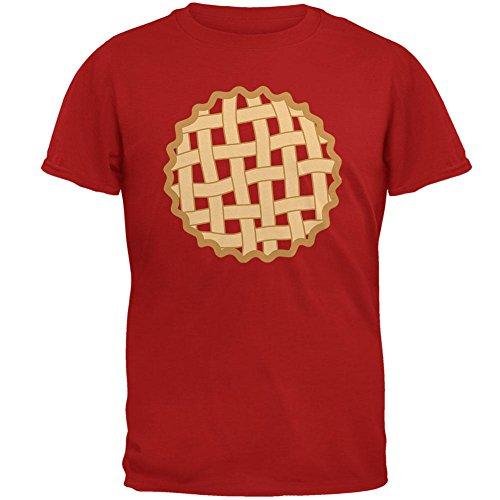 Halloween Lattice Pie Costume Strawberry Cherry Mens Soft T Shirt Red SM ()