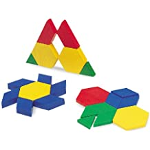 Learning Resources Plastic Pattern Blocks .5cm, Set of 100