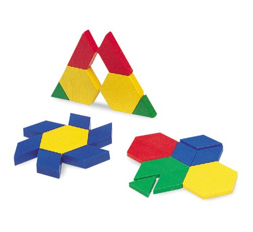 Learning Resources Plastic Pattern Blocks .5cm, Set of 100 Blocks, Grades -