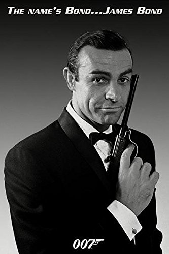 James Bond-The Name's Bond, Movie Poster Print, 24 by 36-Inc