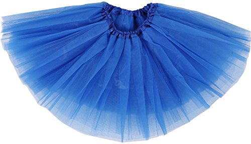 Simplicity Little Girl Tutu Skirt Dress Up Costomes w/Elastic Waist, Royal Blue, 6-18 Mont