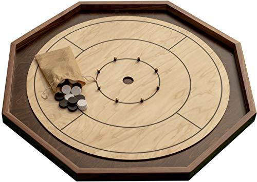 Real Hardwood Tournament Size Crokinole Board by Cape Fear Board Co.