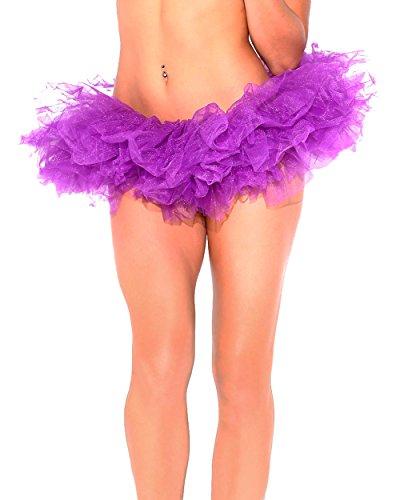 iHeartRaves Tutu Rave Tulle Skirt (Purple) (Rave Clubwear Costumes)