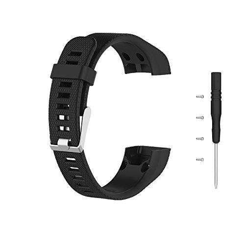 Meiruo Bracelet Wristband for Garmin vivosmart HR Plus/Garmin Approach X10 / Garmin Approach X40 (Black)