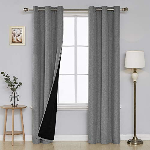 Deconovo Room Darkening Blackout Curtains Thermal Insulated