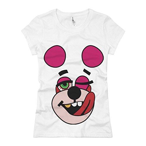 Customized Girl Hip Hop Teddy Bear: Ladies Slim Fit Basic Promo Jersey Tee -