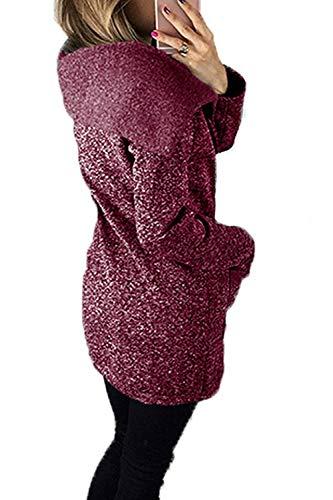 Capuche Veste À Taille Outwear Femmes Sweat Pour Manches coloré Red 5xl Longues rntqwnxg