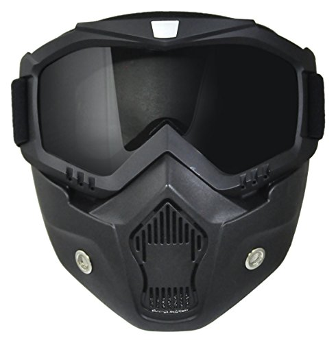 TORC Unisex-Adult Goggle Mask (Black, One Size) (for Open Face and Half Face Helmet) by TORC