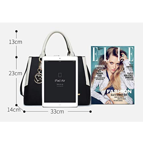 Messenger Sac Style Mode à Casual Noir de à Messenger Main Blanc Sac de Black Nouveau Bag Main Dames vZSwIqx6