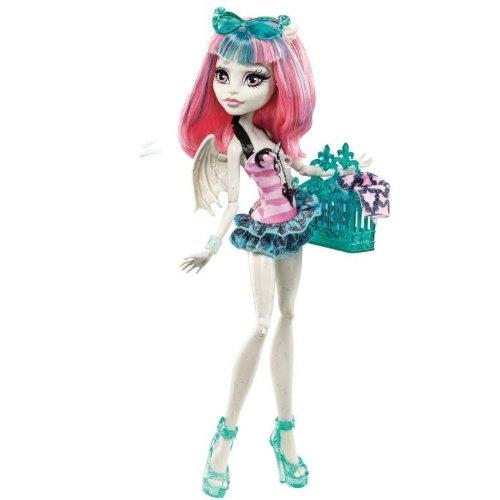 [Monster High Rochelle Goyle Fashion Doll Swimsuit Pink Top Print Green Bottom] (Monster High Rochelle Goyle)