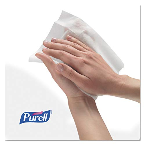 PURELL Hand Sanitizing Wipes, Fresh Citrus Scent, 100 Count Non-Linting Wipes Eco Slim Wipes Canisters (Case of 12) - 9111-12 by Purell (Image #3)