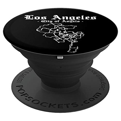Los Angeles City of Angels County Zone Map - Cool Trendy PopSockets Grip and Stand for Phones and Tablets