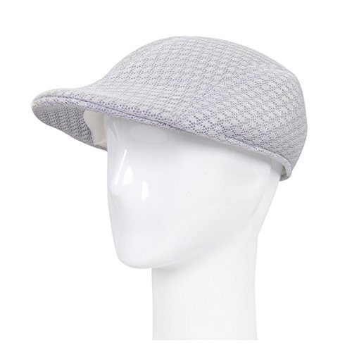 - Premium Summer Mesh Golf Ivy Driver Cabby Newsboy Cap Hat, Grey S/M