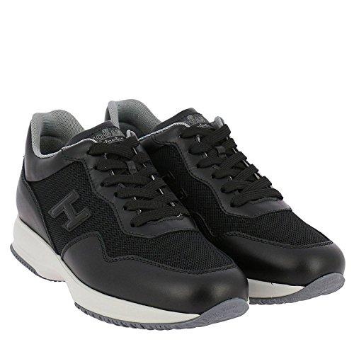 Hogan Men Hxm00n0u040i9jb999 Sneakers In Pelle Nera