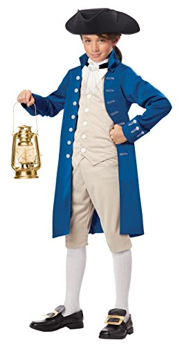 California Costumes Paul Revere Boy Costume, One Color,