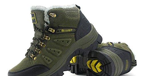 Los zapatos de senderismo al aire libre para hombres llevan antideslizante y cachemira c¨¢lido 47