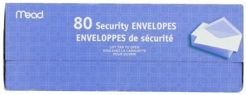 043100752127 - Mead #6 3/4 Security Envelopes, 80 Count (75212) carousel main 2