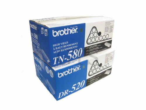 GTS Value Combo: Brand New Genuine Original OEM Brother TN580 Toner Cartridge and DR520 Drum Unit