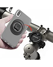 Mountain Bike Phone Mount, Aluminum Cell Phone Holder for Bike MTB Road Bicycle Scooter, Upgraded Universal Stable Bike Phone Holder Clamp Built Ultra Lock for iPhone Samsung Google GPS and More