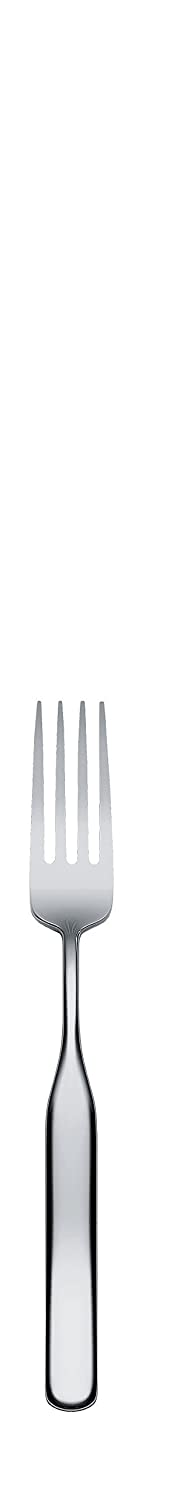AlessiCollo-Alto Dessert Forks in 18/10 Stainless Steel Mirror Polished (Set of 6), Silver IS02/5