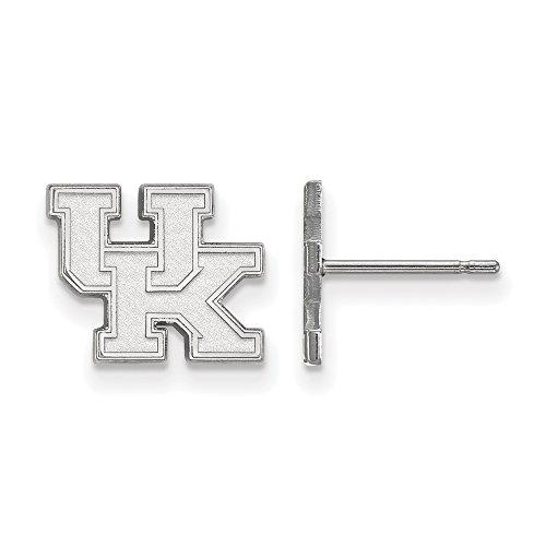LogoArt 10k White Gold University of Kentucky XS Post Earrings 1W008UK by LogoArt