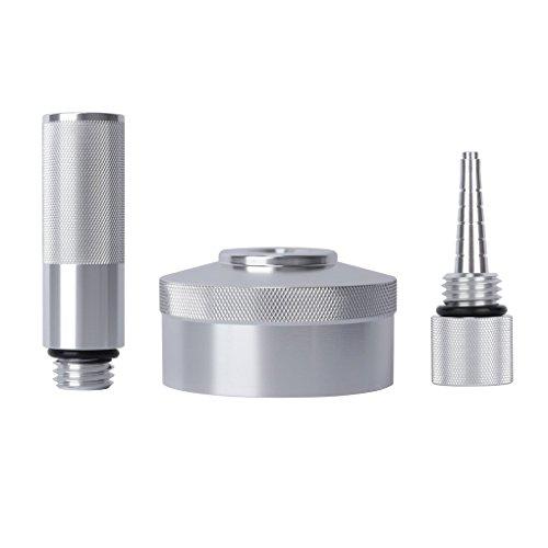 3PCS/Set Aluminum Alloy Extended Run Gas Cap Adapter Mess Free Oil Change Funnel Magnetic Oil Dipstick for Honda (Fuel Cap Adapter Set)