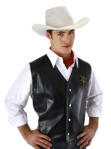 elope The Western Hero White Cowboy Hat (Lone Cowboy Adult Costume)