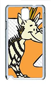 E-luckiycase PC Hard Shell Zabra Z White Skin Edges for Samsung Galaxy Note 3 N9000 Case