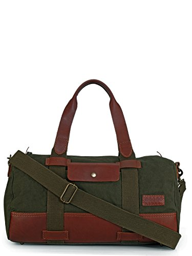 Phive Rivers Leather Duffle Bag/Weekender Bag (Green) Review