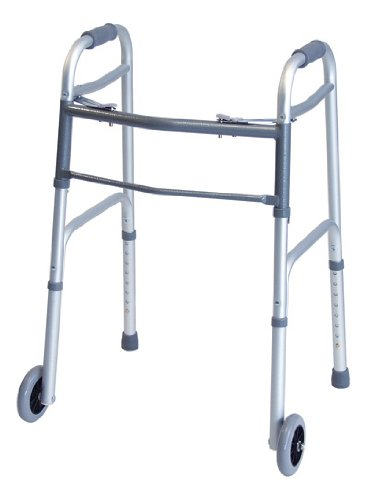 GF Health 716370A-4 Everyday Dual Release Walker with 5'' Wheels, Junior (Pack of 4)