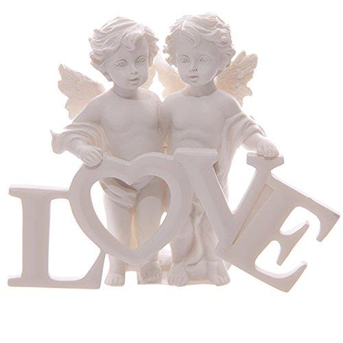 Sweet Love Letters (Sweet Angel Cherub Couple Holding Love Letters by Giftbrit)