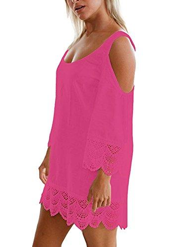 Leezeshaw - Camisola - para mujer rosa (b)