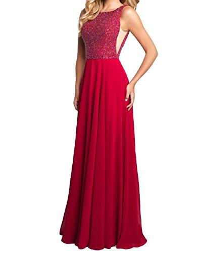 A Abendkleider Elegant Lang mia Chiffon Partykleider Pailletten Kleider La Dunkel Brau Rot Cocktailkleider Jugendweihe Linie nAYPTwnq