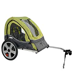 "Instep Sync Bicycle Trailer-Single: 16"" pneumatic tires with molded rims provide performance and style and the 2-in-1 canopy includes a bug screen and weather shield.The entire trailer packs down to a remarkably compact size, allowing for eas..."
