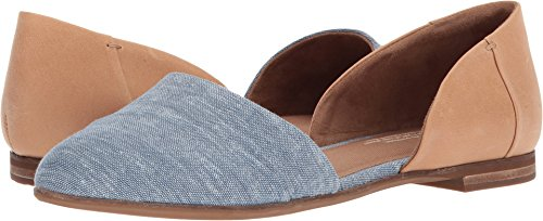 TOMS Women's Jutti D'Orsay Honey Leather/Blue Chambray 7.5 B US by TOMS