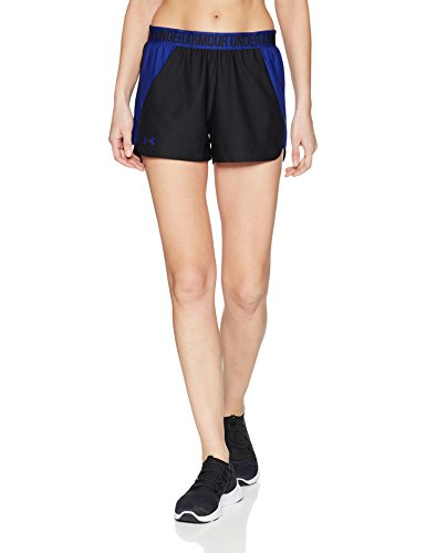 Under Armour Women's Play Up Shorts 2.0, Black (014)/Formation Blue, X-Small by Under Armour (Image #1)