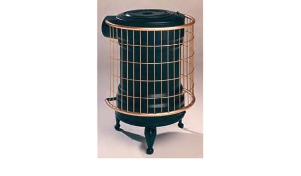 Panadero M288845 - Estufa de leña chapa negra y oro redonda: Amazon.es: Hogar