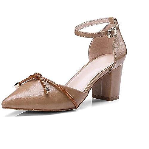 d0382718 Durable Modelando Zapatos de Mujer Versión Coreana del Verano Nuevo Estilo  de Cuero Sandalias de Arco