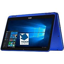 "Dell Inspiron 11.6"" HD 2-in-1 Convertible Touchscreen Laptop (Tablet), Intel Quad-Core Pentium N3710 up to 2.56GHz, 4GB RAM, 500GB HDD, MaxxAudio, WLAN, Bluetooth, HDMI, Webcam, Windows 10"