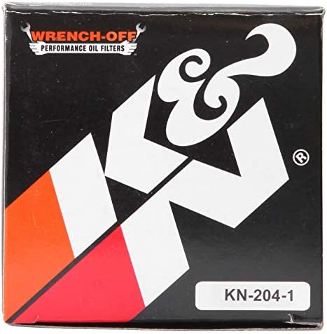 K&N Motorcycle Oil Filter: High Performance, Premium, Designed for use with Synthetic or Conventional Oils: Fits Select Honda, Kawasaki, Triumph, Yamaha Motorcycles, KN-204-1