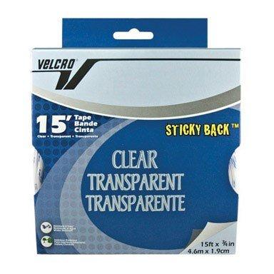 Velcro Velcro Tape 3/4'' X 15' Sticky Back Clear Boxed