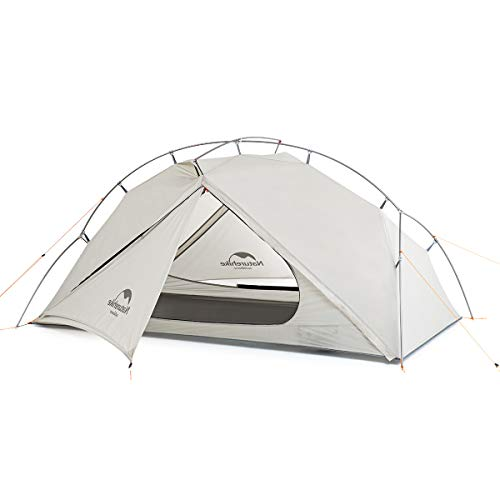 Naturehike Vik 1 Person Ultralight Backpacking Tent - 4 Season Lighweight Waterproof Camping Tent for Outdoor Camping, Hiking, Mountaineering, 2.6lbs with Foot Print