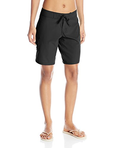 (Kanu Surf Women's Marina Solid Stretch Boardshort, Black, 14)