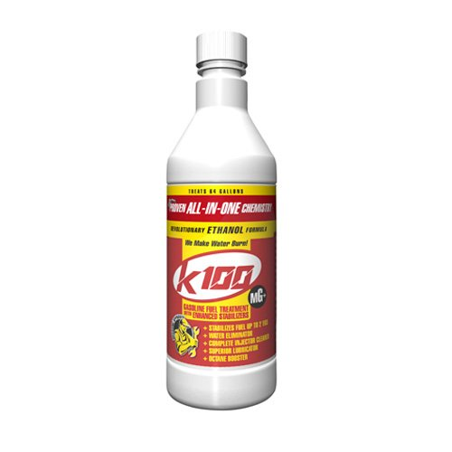 (K100 MG All-In-One Gasoline Fuel Treatment & Additive - Eliminates Water, Stabilizes Fuel, and Cleans Engine & Fuel Systems – 32 oz.)