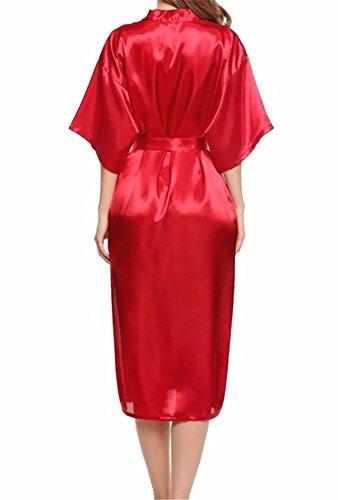 Yall Señora Pijama Batas De Seda Pura Seda Imitación Red