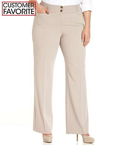Alfani Women Curvy Fit Slimming Bootcut Pants Plus Szie 22w Summer Straw