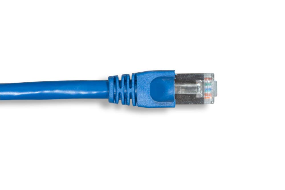 Blue Color Molded Snagless Boot Cablelera 75 Category 6a FTP Cable ZNWN3940-75